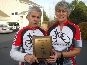Jim and Diane Walsh receive JBC Lifetime Memberships.